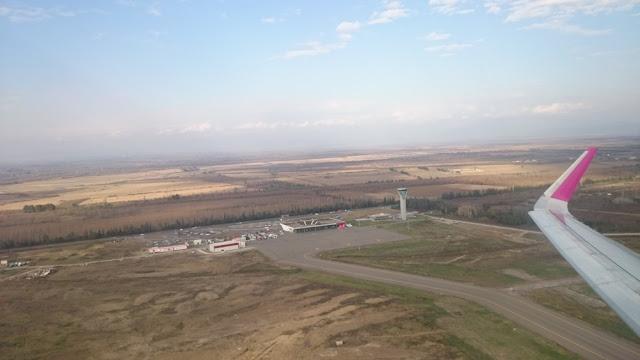 Flughafen Kutaissi von oben