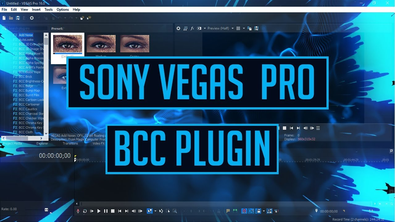 Hướng Dẫn Cài Đặt Plugin BCC Cho Magix Vegas Pro 14 và 15