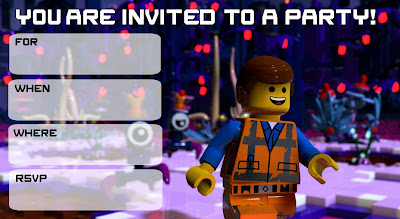 lego movie 2 the second part birthday invitations