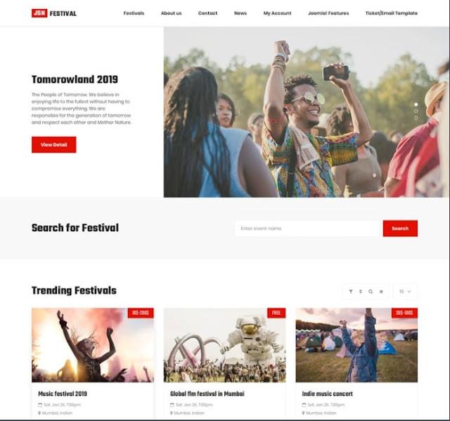 Festival тема для Joomla