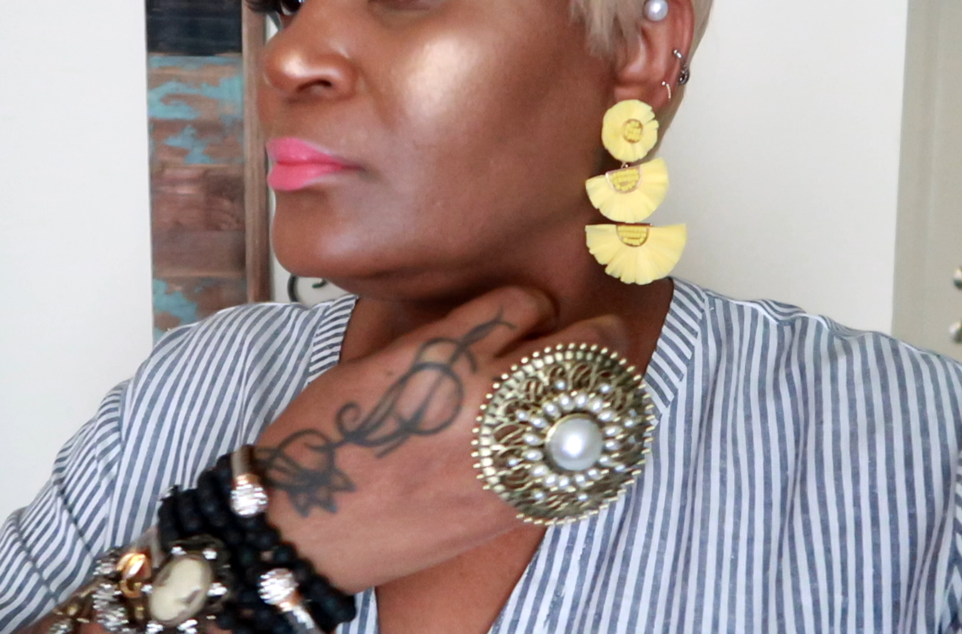If I had a penny for the times I thought something wouldn't look great on me, I would be rich right now. So, today I am sharing a few of my earring picks that I think will compliment my aging style and any woman who is getting older in life. I used to be the one who played it safe with wearing jewelry.