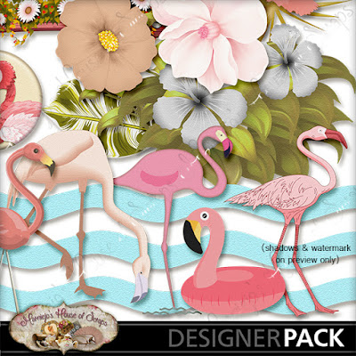 "December Monday Freebie #3 - ""Pink Flamingo"""