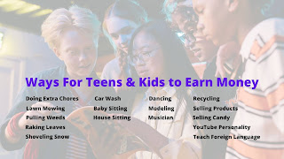 Ways For Kids and Teens to Earn Money