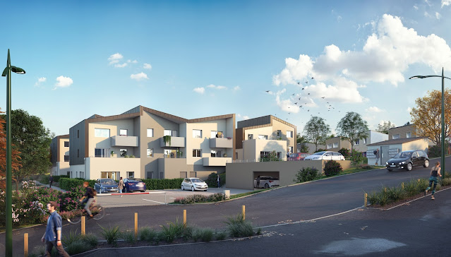 Immeuble de logements 3D permis de construire et promotion