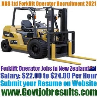 RBS Ltd Forklift Operator Recruitment 2021-22