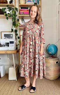 Fabric Godmother Floral Viscose Fibre Mood Mira Dress