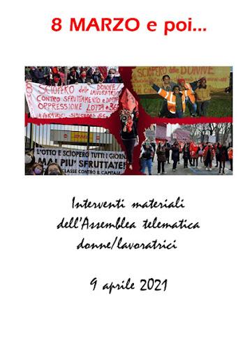 Dossier dell'assemblea donne/lavoratrici del 9 aprile 2021