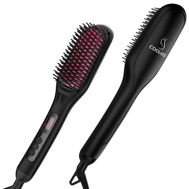 Cepillo alisador de cabello iónico de Coolkesi