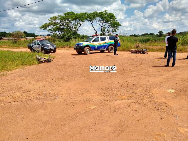 Colisão entre motocicletas deixa três pessoas feridas em Vila Murtinho
