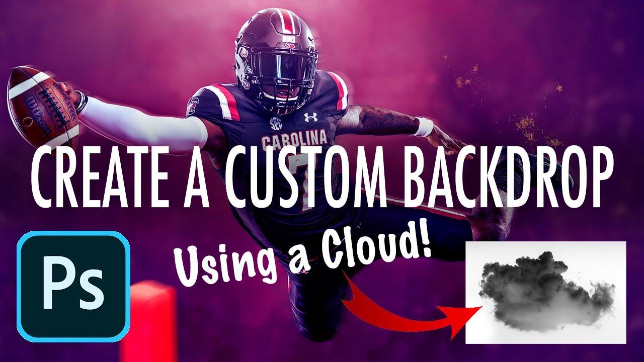 HOW TO Create a Custom Backdrop Using Your OWN Cloud Brush