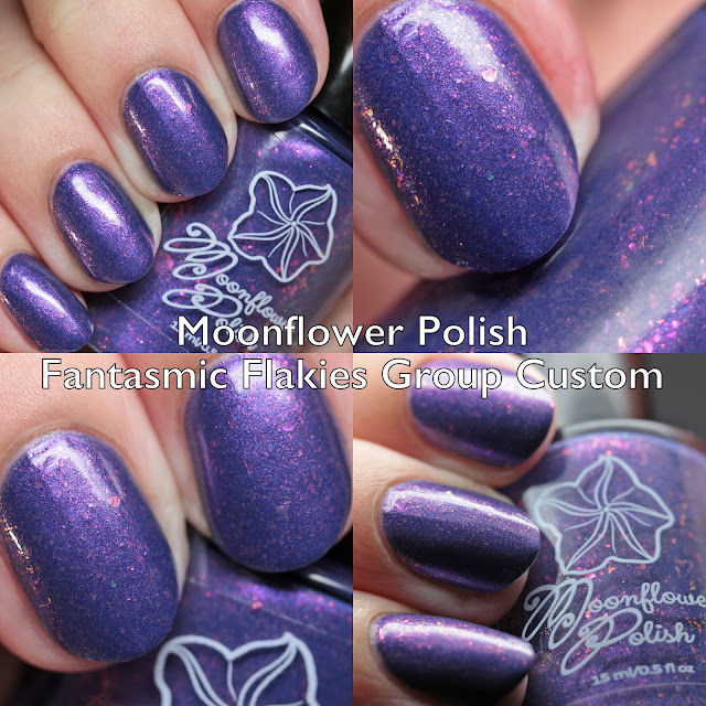 Moonflower Polish Fantasmic Flakies Group Custom