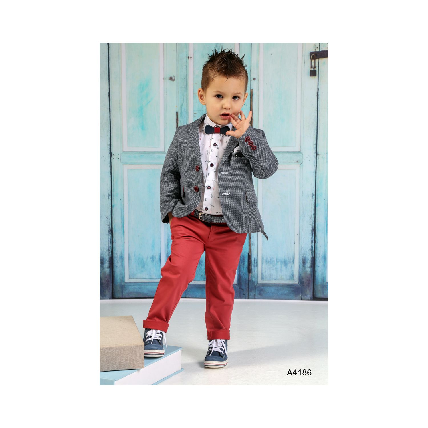 Greek Christening suit for boy A4186