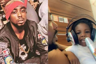 Erigga's 3-year-old day raps for him on father's day