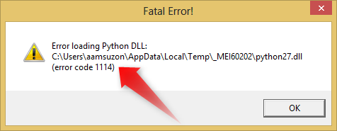 Error loading Python DLL