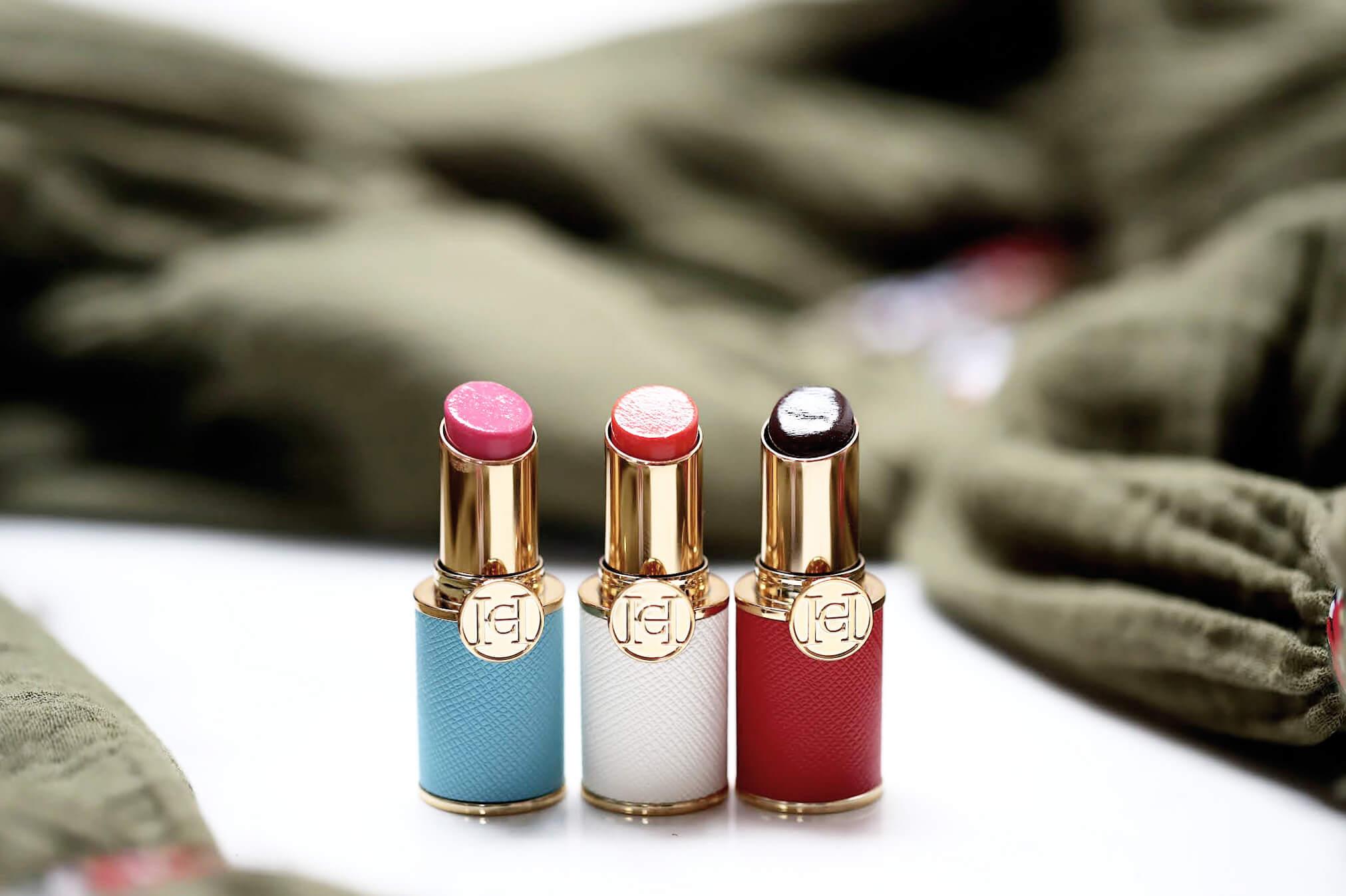 Carolina Herrera Mini Lip Tint Baume à Lèvres 001 004 005 swatch