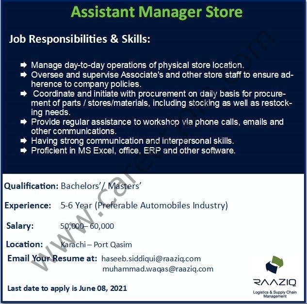 Raaziq International Jobs 2021 in Pakistan