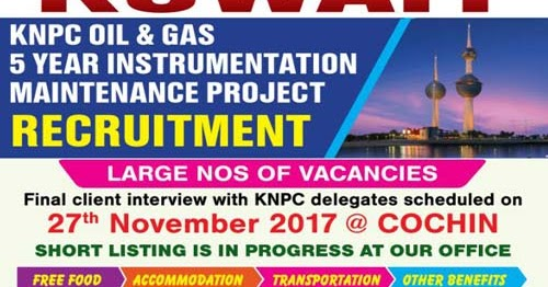 Kuwait KNPC Oil & Gas Jobs | Instrumentation HSE Vacancies