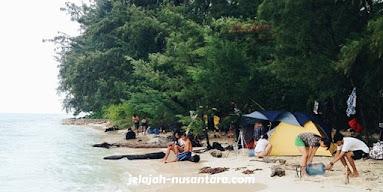 destinasi camping pulau harapan