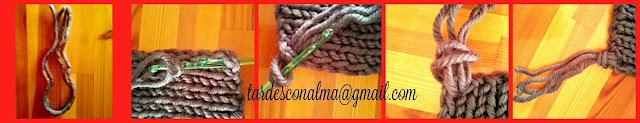 2 agujas, calceta, craft, handmade, tutorial, paso a paso, gris, barato, facil, flecos, lana,