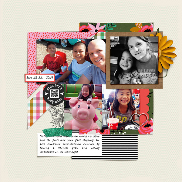 Daily Life Scrapbook Page by Liz