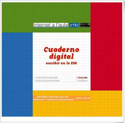 """""""Cuaderno digital. Escribir en la ESO"""" (Aplicación interactiva sobre Escritura de Textos)"""
