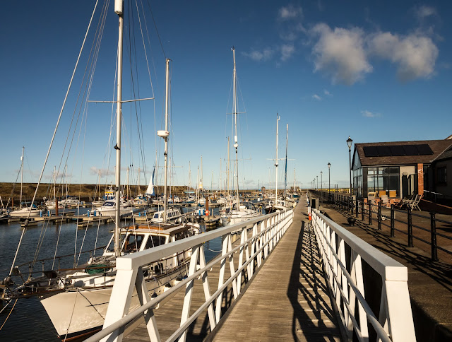 Photo of the ramp down onto the pontoons at Maryport Marina