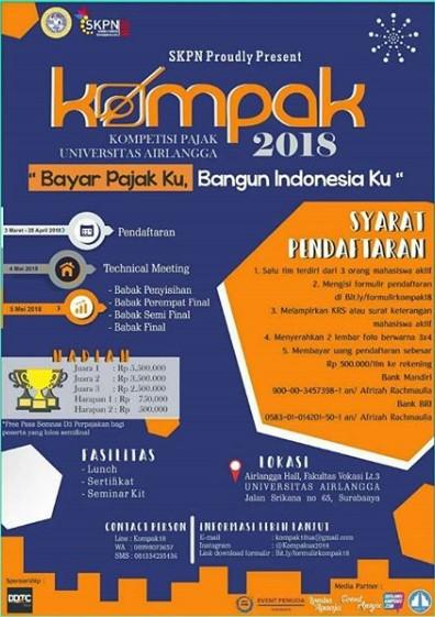 Kompetisi Perpajakan Universitas Airlangga (Kompak) 2018