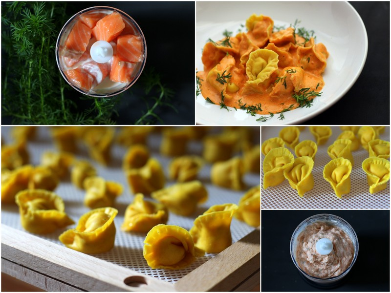 Cappelletti mit Lachs und Lakritztagetes in Noilly Prat-Tomaten-Sauce | Arthurs Tochter Kocht by Astrid Paul