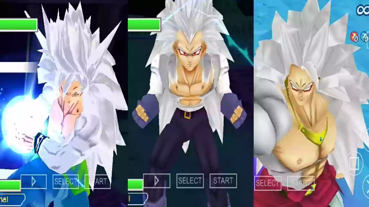 Goku all forms DBZ TTT MOD