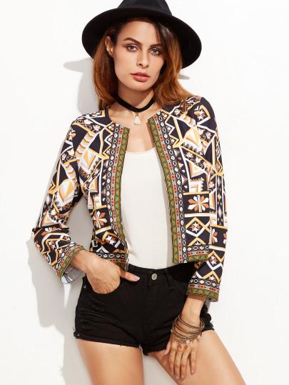 Closet essential,  geometric print,  blazer
