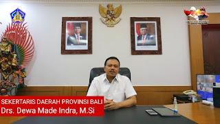 Sekda Propinsi Bali Dewa Made Indra Masa Pengenalan Lingkungan Sekolah SMK TI Bali Global Badung 2021 2022