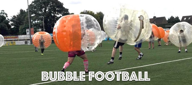 Bubble Football outside
