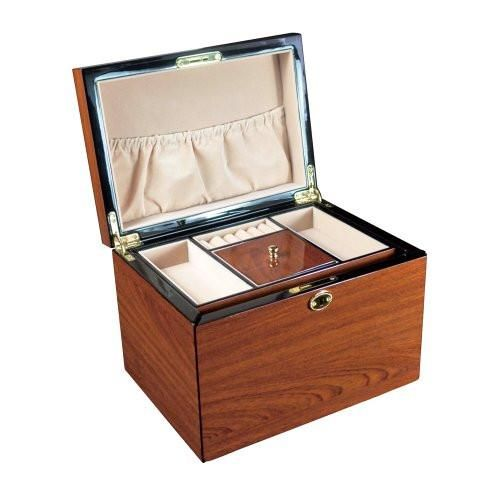#BXJ85 High Gloss View Top Wooden Jewelry Chest