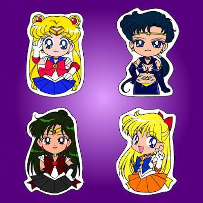 Printable Sailor Moon Finger Puppets