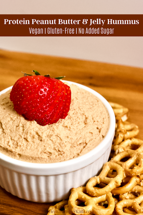 Vegan Peanut Butter and Jelly Hummus