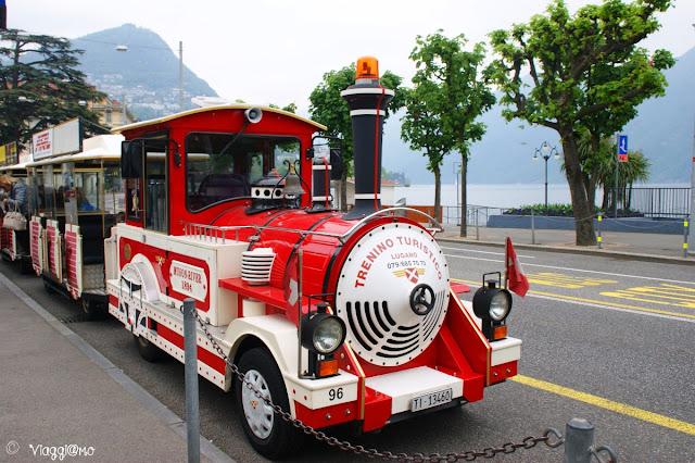 Il trenino turistico per un piacevole giro in Lugano