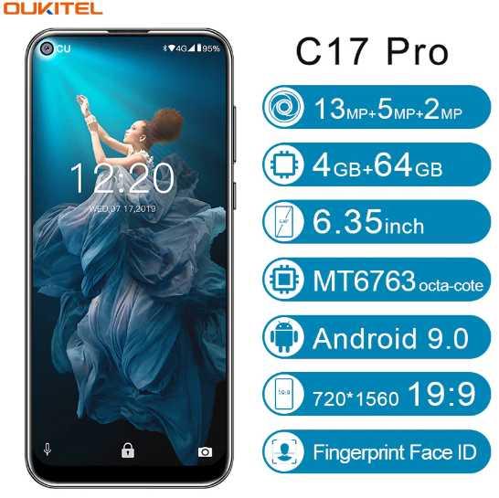 Oukitel C17 Pro triple camera octa core 5G wifi Android-9  Smart phone