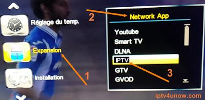 Ajoutez IPTV fichier m3u Pinacle 9100 إضافة روابط الإيبي تيفي لجهاز بيناكل