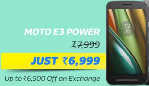 Moto E3 Power @ Rs.6,999/-