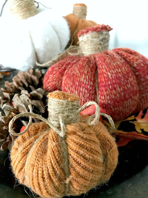 The easiest way to make sweater pumpkins with no sewing and no glue.