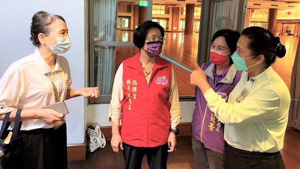 彰化長照機構照服員開打疫苗 巡視慈濟彰化靜思堂接種站