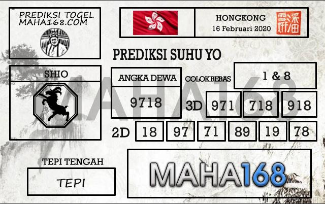 Prediksi Togel Hongkong 16 Februari 2020 - Suhu Yo