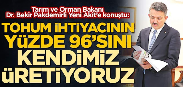 Türkiye Tohumu Üretimi