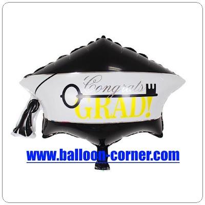 Balon Foil Topi Congrats Grad