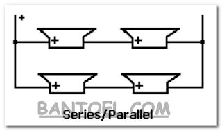 Rangkaian parallel dan seri 4 speaker
