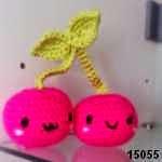 patron gratis cerezas amigurumi, free amigurumi pattern cherries