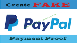 create fake paypal payment proof