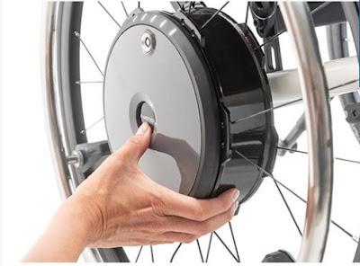 Propulsor e-motion M25 en el eje de la rueda