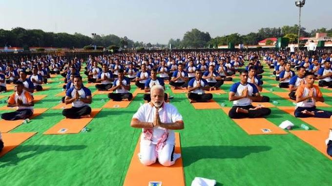 ஏழாவது சர்வதேச யோகா தினம்.... பிரதமர் மோடி இன்று காலை 6.30 மணிக்கு உரை... 7th International Yoga Day..PM Modi's speech today at 6.30 am