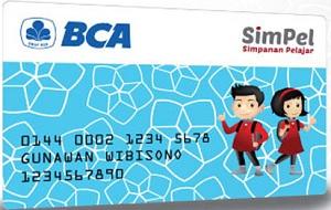 Kartu ATM BCA simpanan pelajar